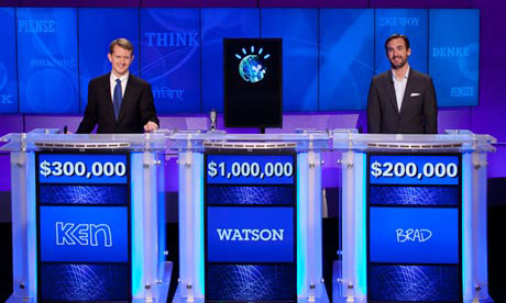 IBM's Watson competing on Jeopardy. {Source: hothardware]